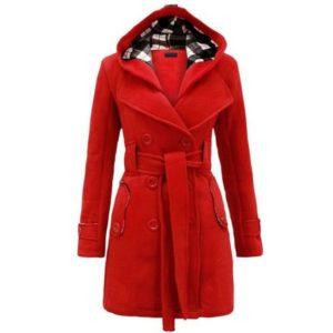 Manteau femme hiver slim mode de luxe
