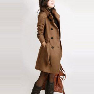 Manteaux hiver à manches longues style de luxe