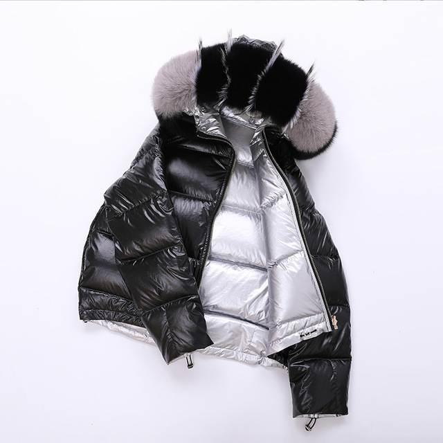 Veste femme hiver à capuche court 23