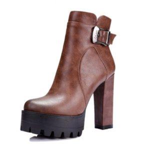 Boots à talon haut pas cher
