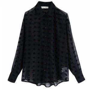 Chemise noir femme pas cher