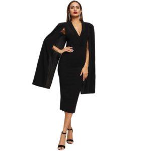 Robe noire chic mode