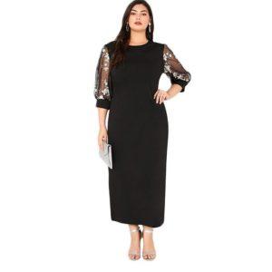 Robe noire dentelle mode