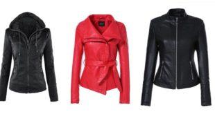 Blouson cuir femme mode
