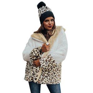 Manteau fourrure leopard mode