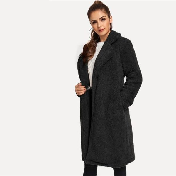 Manteau long noir mode