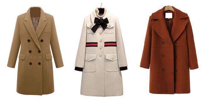 Manteau en laine femme mode