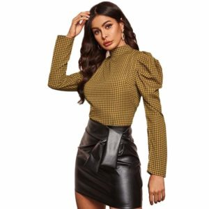 Blouse col montant mode 2020