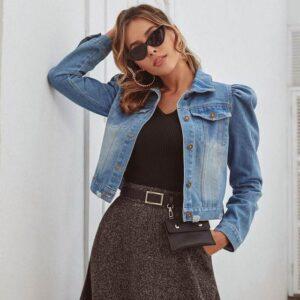 Veste en jean courte mode