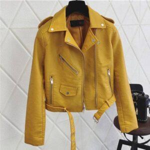 Jacket cuir femme mode